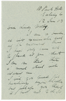 Letter to VW from James Sully 12 January 1903
