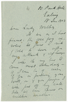 Letter to VW from James Sully 18 January 1903