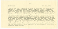 Letter to James Sully from VW 10 February 1903