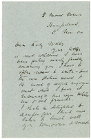 Letter to VW from James Sully 5 November 1904