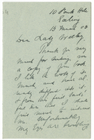 Letter to VW from James Sully 15 March 1903