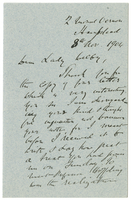 Letter to VW from James Sully 8 November 1904