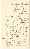 Letter to VW from James Sully 7 March 1907
