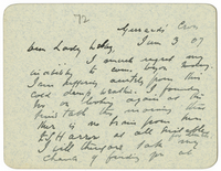 Letter to VW from James Sully 3 June 1907