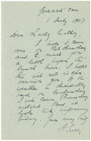 Letter to VW from James Sully 1 July 1907
