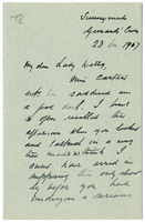Letter to VW from James Sully 23 December 1907