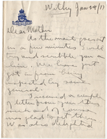 Letter to Mrs. Stepler from Gordon Stepler, January 29th 1917