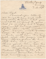 Letter to Mrs. Stepler from Gordon Stepler, February 18th 1917