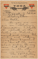 Letter to Mrs. Stepler from Gordon Stepler, February 27th 1917