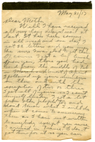Letter to Mrs. Stepler from Gordon Stepler, May 21st 1917