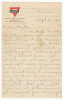 Letter to Mrs. Stepler from Gordon Stepler, September 26th 1917