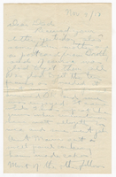 Letter to Mr. Stepler from Gordon Stepler, November 9th 1917