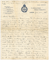 Letter to Mrs. Stepler from Gordon Stepler, January 29th 1918