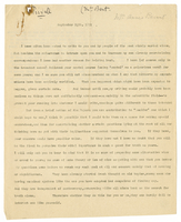 Letter to Annie Besant from VW 24 September 1891