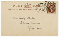 Postcard to VW from Annie Besant 7 October 1891