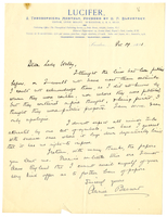 Letter to VW from Annie Besant 19 December 1891