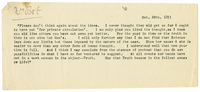 Letter to Annie Besant from VW 20 October 1891
