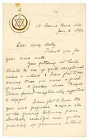 Letter to VW from Annie Besant 2 January 1892