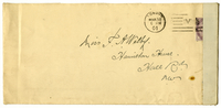 Envelope addressed to VW from Marie Bonnet 30 March 1901