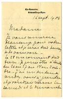 Letter to VW from Marie Bonnet 16 September 1904