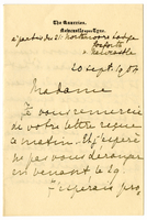 Letter to VW from Marie Bonnet 20 September 1904