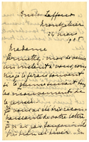 Letter to VW from Marie Bonnet 24 March 1905