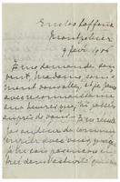 Letter to VW from Marie Bonnet 9 February 1906
