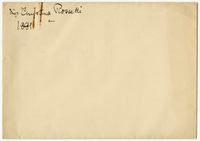Envelope addressed to Christina Rossetti from VW 1881