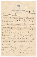 Letter to Mrs. Stepler from Gordon Stepler, 28 August 1916