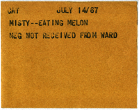 Cat : Misty--Eating Melon [neg not received from Ward]