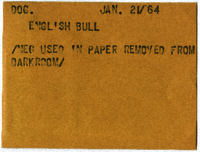 Dog : English Bull /Neg used in paper removed from darkroom/