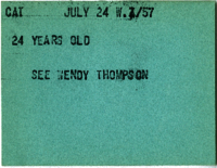 Cat : 24 Years Old : See Wendy Thompson