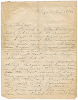 Letter to Mrs. Stepler from Gordon Stepler, November 18th 1918