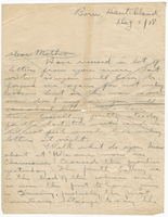 Letter to Mrs. Stepler from Gordon Stepler, December 5th 1918