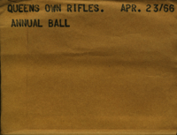 Queen's Own Rifles : Annual Ball