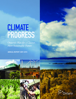 Climate Progress: Ontario's plan for a cleaner, more sustainable future. Annual Report 2009-2010