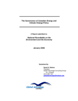The Governance of Canadian Energy and Climate Change Policy