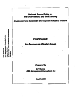 Environment and Sustainable Development Indicators Initiative: Air Resources Cluster Group - Final Report