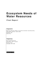 Ecosystem Needs of Water Resources: Final Report