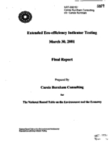 Extended Eco-Efficiency Indicator Testing - Final Report