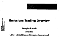 Emissions Trading: Overview presentation