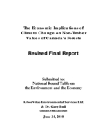 Economic Implications of Climate Change on Non-Timber Values of Canada's Forests: Revised Final Report