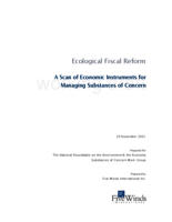 Ecological Fiscal Reform - A Scan of Economic Instruments for Managing Substances of Concern