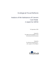 Ecological Fiscal Reform: Analysis of the Substances of Concern - Case Study