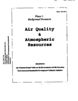 Air Quality & Atmospheric Resources - Background Document