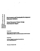Environmental Sustainable Development Indicators Initiative: Water Resources Cluster Group - Draft Interim Report