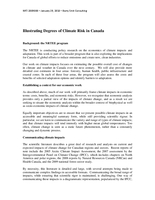 Illustrating Degrees of Climate Risk in Canada