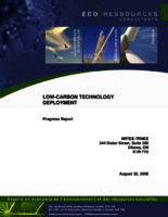 Low-Carbon Technology Deployment: Progress Report