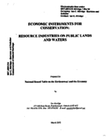 Economic Instruments for Conservation:Resource Industries on Public Lands and Waters