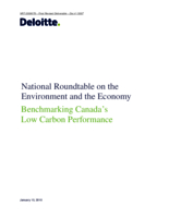 Benchmarking Canada's Low Carbon Performance